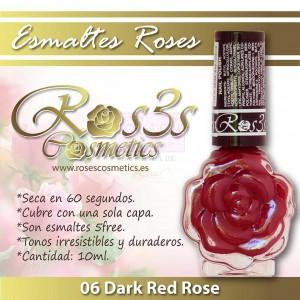ESMALTE ROS3S 06 DARK RED ROSE