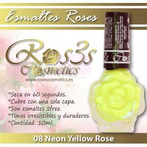 ESMALTE ROS3S: 08 NEON YELLOW ROSE