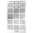 Placa de diseños rectangular Konad. c20