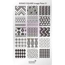 Placa de diseños rectangular Konad. c21
